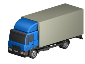 Koffer-LKW / box truck (Z, 1:220) in Smooth Fine Detail Plastic