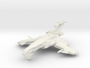 Scorpion Class BattleCruiser I in White Strong & Flexible