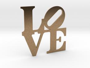 The Love Sculpture miniature in Natural Brass