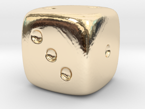 Dice in 14K Gold
