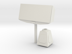 1/72 scale TRS-3D (AN/SPS-75) Multi-mode Radar in White Natural Versatile Plastic