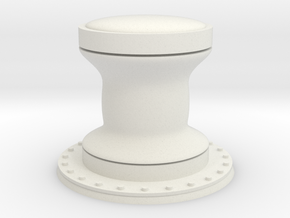 1:72 Navy Capstan - Generic in White Natural Versatile Plastic