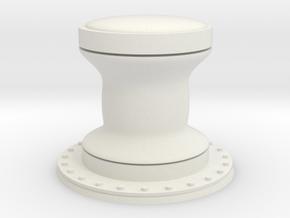 1:72 Navy Capstan - Generic in White Natural Versatile Plastic