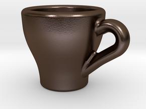 Espresso Charm in Polished Bronze Steel