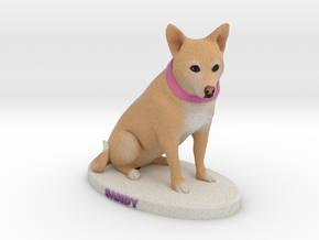 Custom Dog Figurine - Sandy in Full Color Sandstone