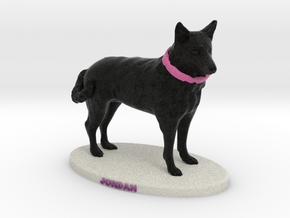 Custom Dog Figurine - Jordan in Full Color Sandstone