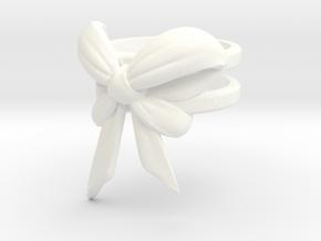 Bow Ring (S7) in White Processed Versatile Plastic