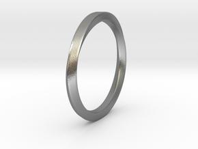 Möbius Ring in Natural Silver: 11 / 64