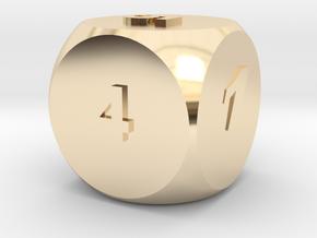 Multi-coloured Dice v1.0 in 14K Yellow Gold