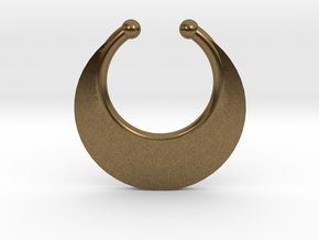 Faux Septum Ring - Crescent (small) in Natural Bronze