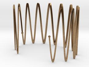 Wrist Cuff - wave in Natural Brass