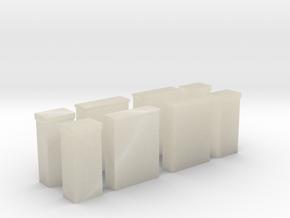 Kabelboks til El og Tv x4 1/87 in White Acrylic