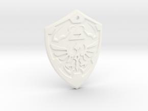 Hylian Shield - Legend of Zelda in White Processed Versatile Plastic