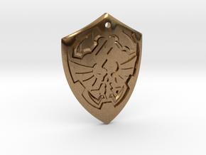 Hylian Shield - Legend of Zelda in Natural Brass