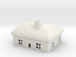 1/600 Village House 2 in White Natural Versatile Plastic