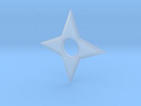 4 Point Ninja Star (shuriken) in Smooth Fine Detail Plastic