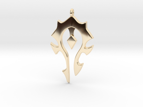 Horde Necklace - World Of Warcraft in 14K Yellow Gold