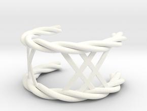 Twisted Lattice Cuff (Men) in White Processed Versatile Plastic