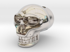 "Skull For 1"" Archery Bow Stabilizer in Platinum"