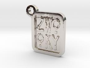 ZWOOKY Keyring LOGO 12 3cm 3mm in Platinum