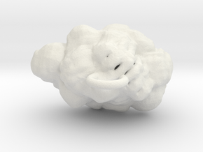 Cloud Earring in White Strong & Flexible