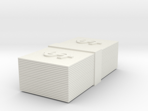 Stack of Money Custom Board Game Piece  in White Natural Versatile Plastic