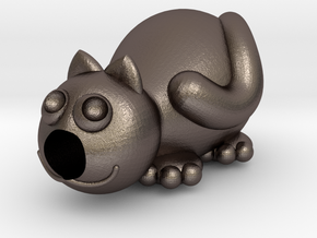 Caty in Polished Bronzed Silver Steel