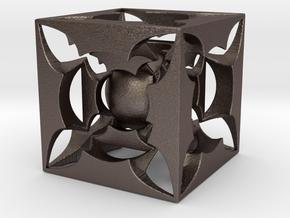 Fractal 3D HT5 in Polished Bronzed Silver Steel
