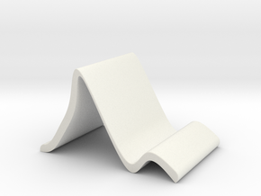 Tabletop Stand for Smart Phone or Tablet in White Natural Versatile Plastic