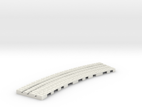 P-9-165st-long-250r-curved-inside-1a in White Natural Versatile Plastic