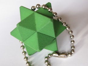 Orchid Keychain Puzzle in Green Processed Versatile Plastic