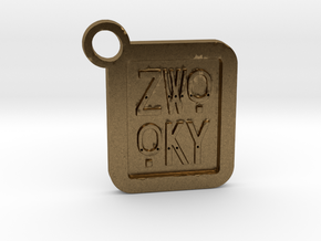 ZWOOKY Keyring LOGO 14 4cm 4mm  in Natural Bronze
