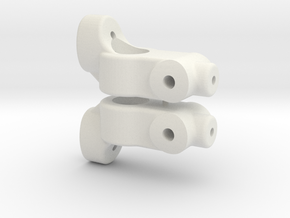 TC5 REAR HUB CARRIER - 0 DEGREE - INCH in White Natural Versatile Plastic