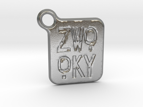 ZWOOKY Keyring LOGO 14 3cm 2mm rounded in Natural Silver