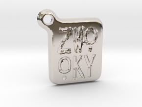 ZWOOKY Keyring LOGO 14 3cm 3mm rounded in Platinum