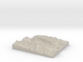 Model of Marmolada in Sandstone