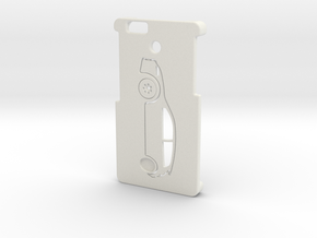 Iphone 6 case (with integrated stand) in White Natural Versatile Plastic