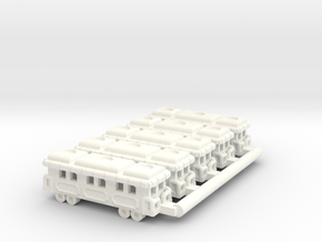 Game Train x 5 in White Processed Versatile Plastic
