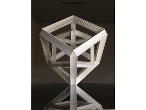 Hyper Cube Perspective enclosed in White Strong & Flexible