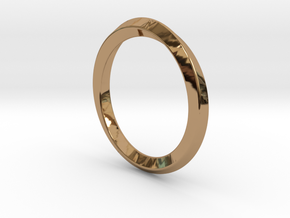 Mobius-ring (US size#6) in Polished Brass