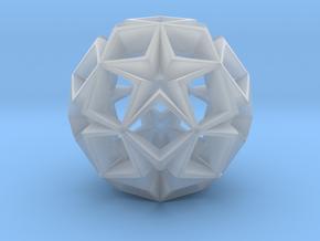 Fractal Stars 70mm in Smooth Fine Detail Plastic