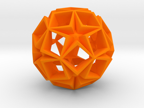 Fractal Stars 150mm in Orange Strong & Flexible Polished