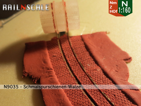 Schmalspurschienen-Walze (Nm 1:160) in Smooth Fine Detail Plastic