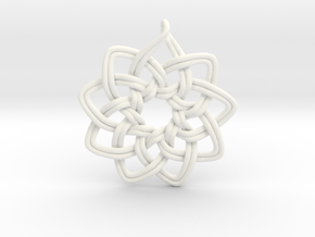 Logo Ornament in White Strong & Flexible Polished