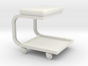 1/10 Scale Mechanics Stool in White Natural Versatile Plastic