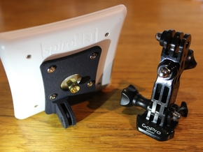 ImmersionRC 5.8 Patch Antenna to GoPro mounting in White Natural Versatile Plastic