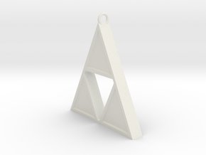 Triforce Pendant in White Natural Versatile Plastic