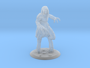 Dragon Girl Fantasy Miniature in Smooth Fine Detail Plastic