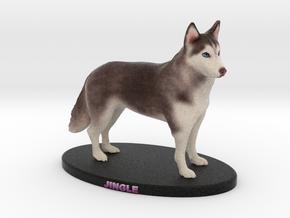Custom Dog Figurine - Jingle (Standing) in Full Color Sandstone