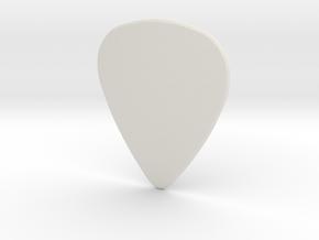 Guitarpick MEDIUM (0.88mm) in White Natural Versatile Plastic